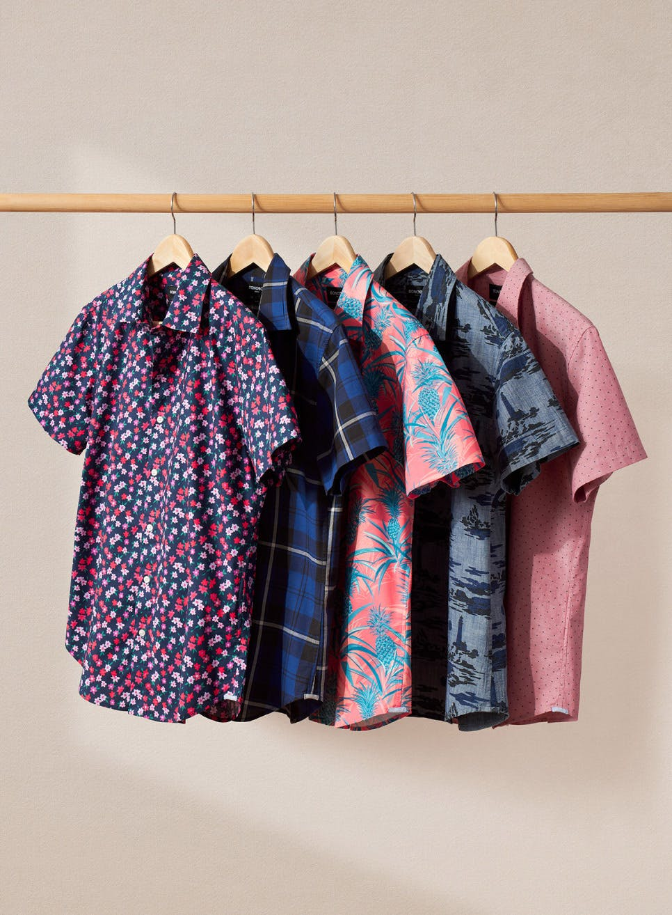 image of festive and colorful riviera shirts