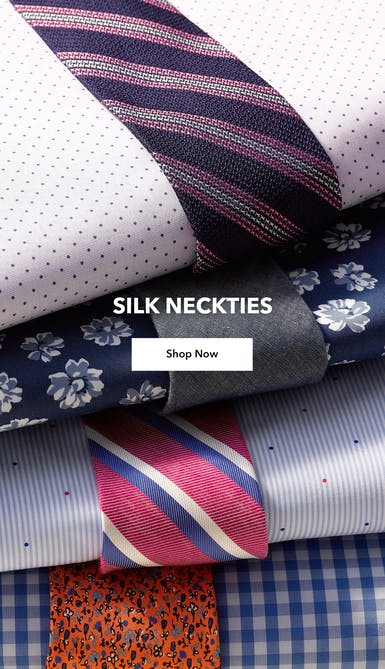 Shop printed and patterned silk neckties