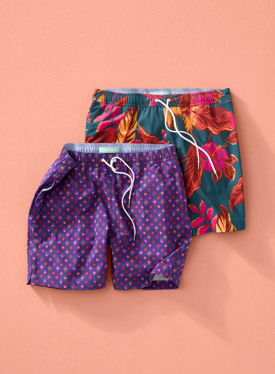 image of two swim trunks
