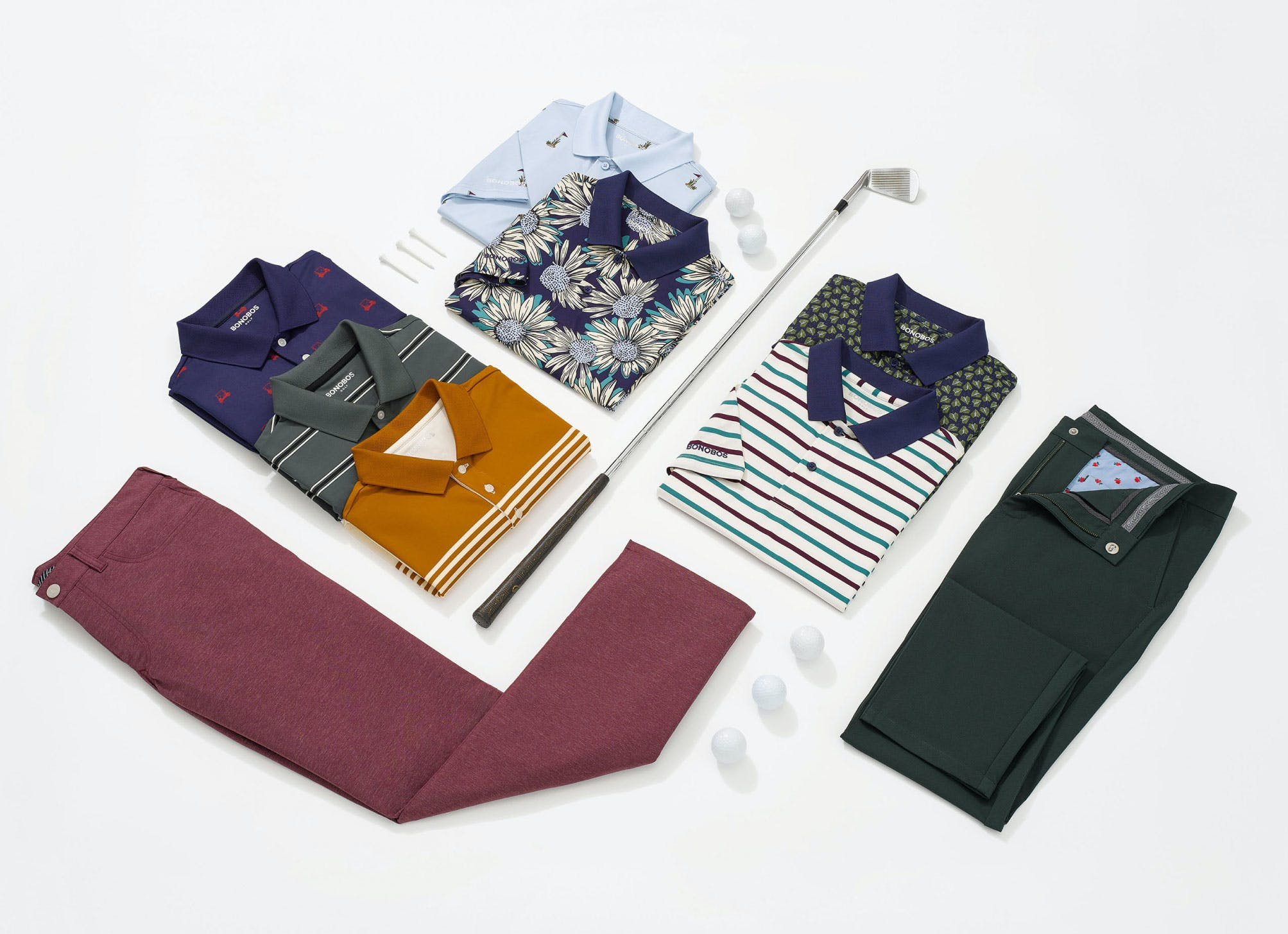 image of golf clothing and accessories