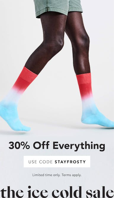 30% off everything with code STAYFROSTY