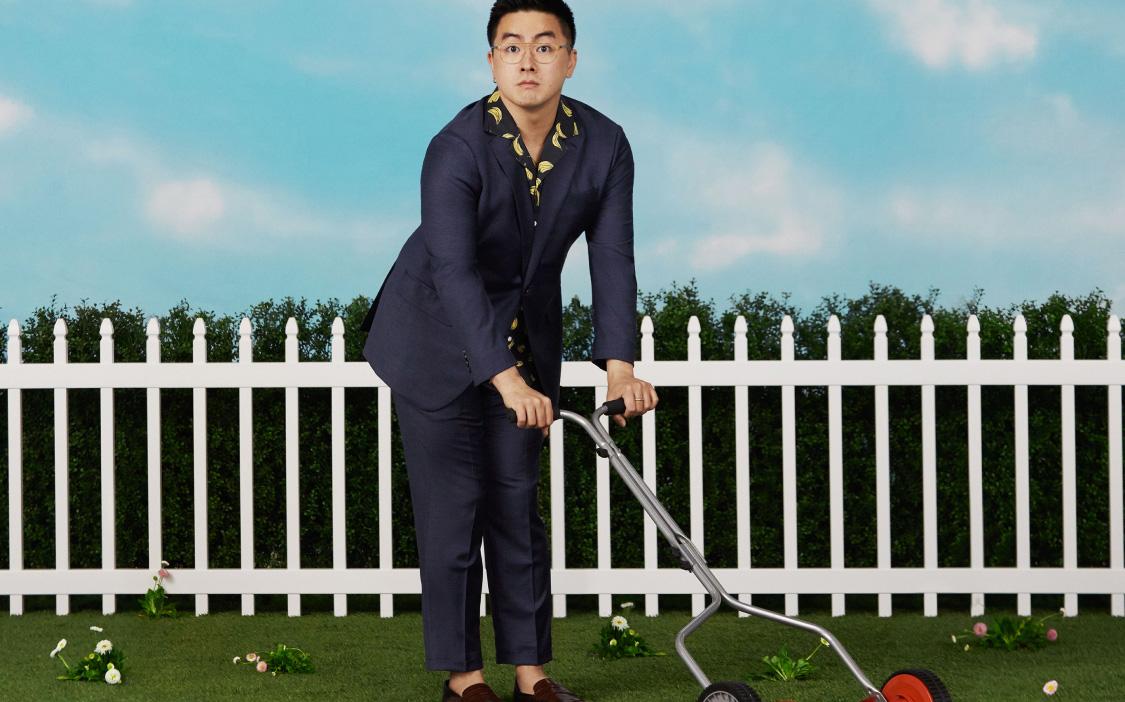 image of Bowen Yang wearing a blue suit