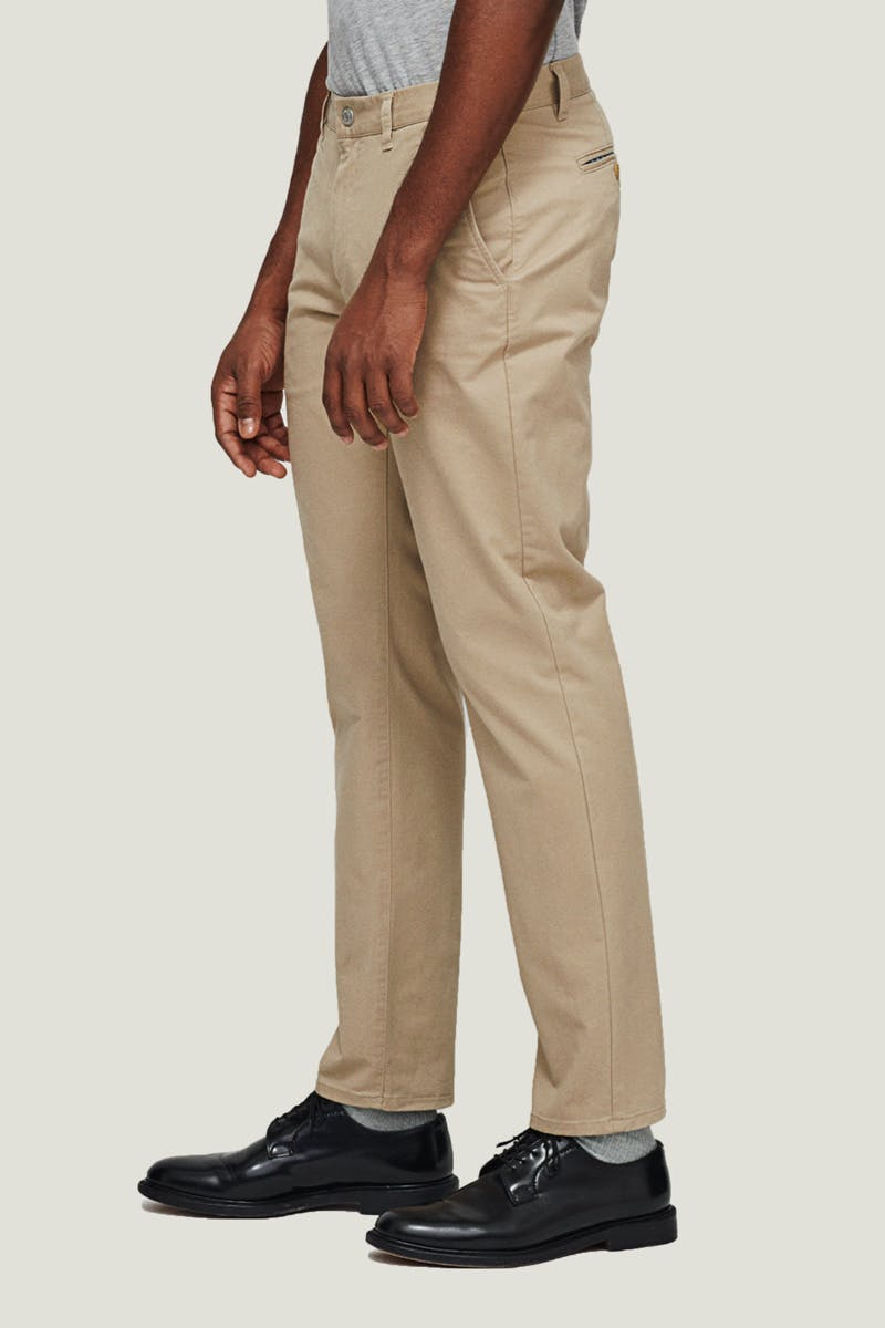 Our roomiest fit in the seat and thigh with a distinct taper below the knee for a fitted look.