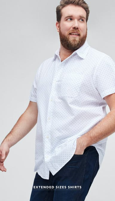 shop extended size shirts