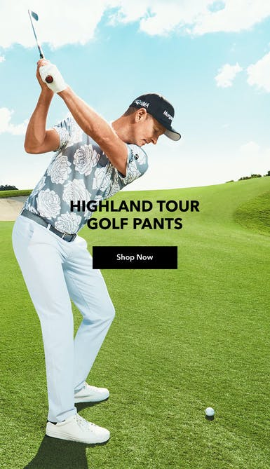 shop the highland tour golf pants in white