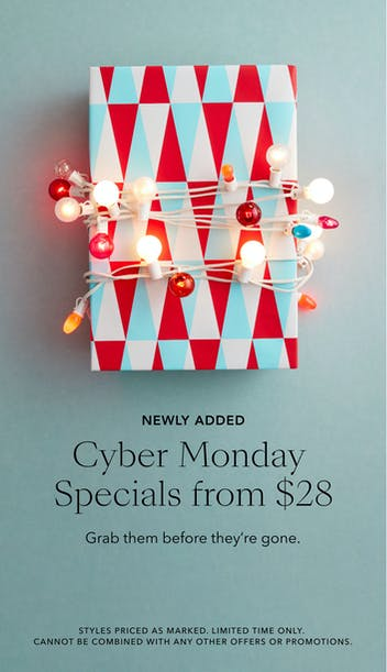 cyber monday specials from 18