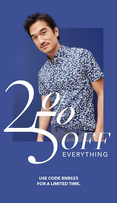 extra twenty five percent off sitewide, use code bnbs25