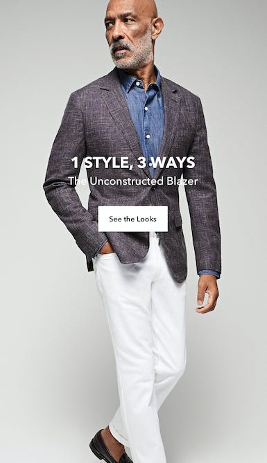 unconstructed blazer, 3 ways. shop the looks
