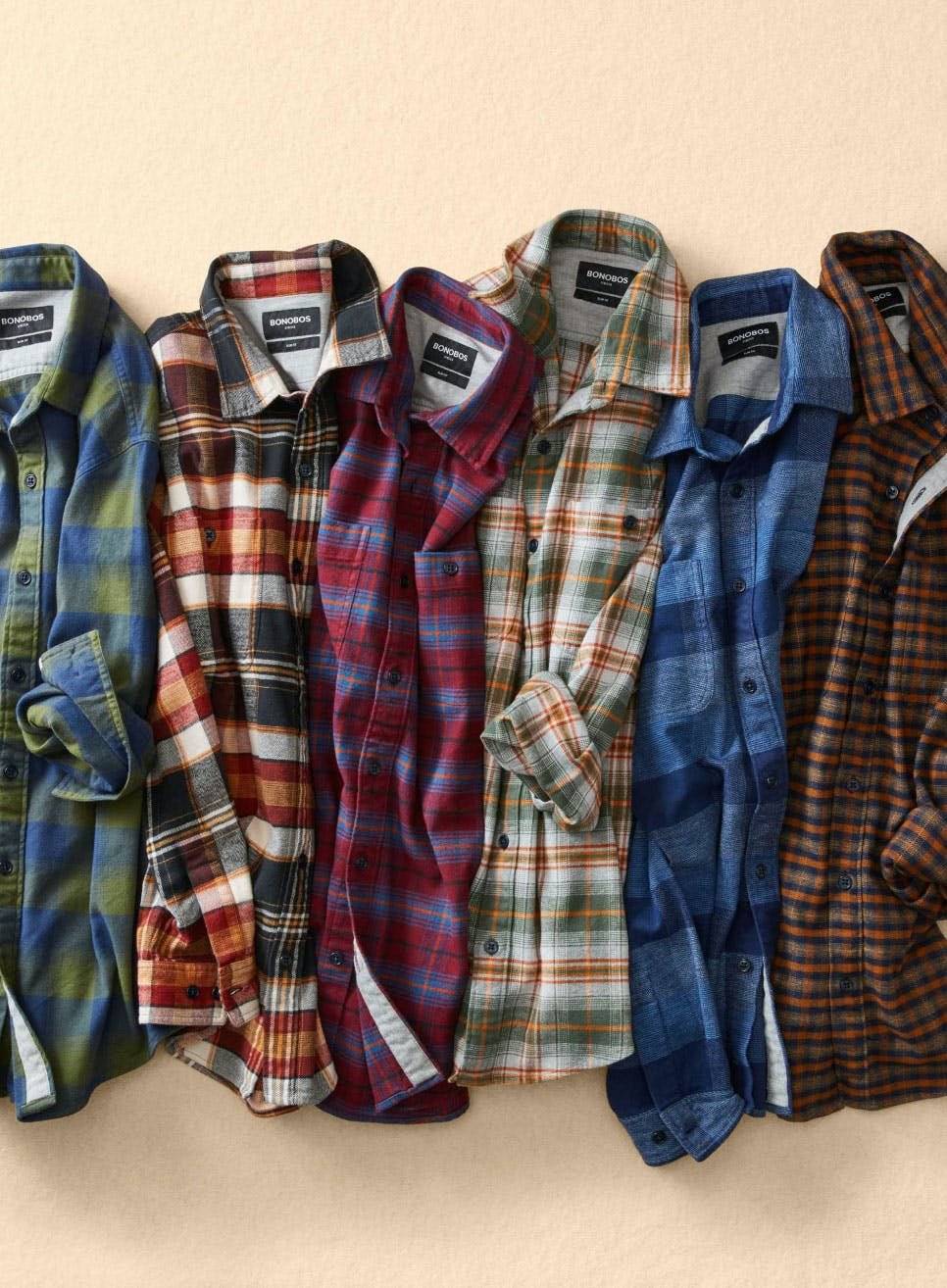 image of Stretch Flannel Shirts