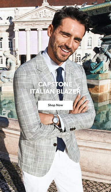 shop the capstone italian blazer in light grey plaid