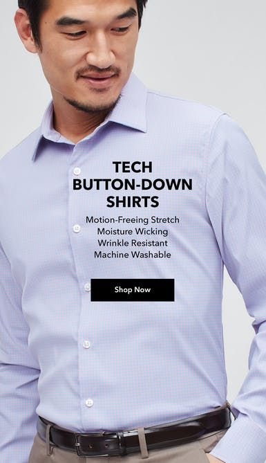 shop the moisture-wicking, wrinkle resistant, machine washable tech button down shirts