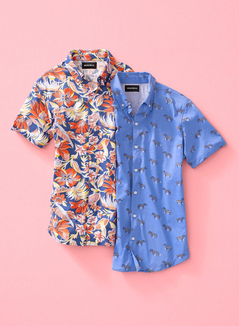 image of two Jersey Riviera Shirts