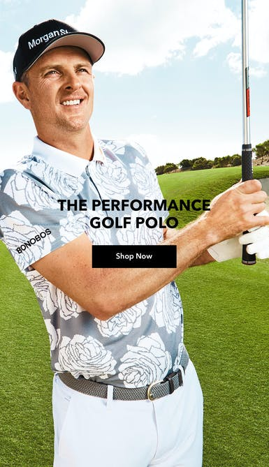 shop the performance golf polo in White Rose Jacquard